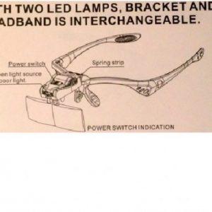 Magnifier LED Lash Extension Glasses