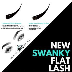 Swanky Flat Ellipse Lash Extensions